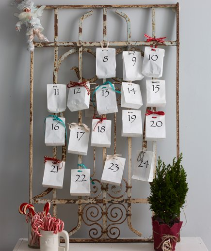 Advent calendar in your wall