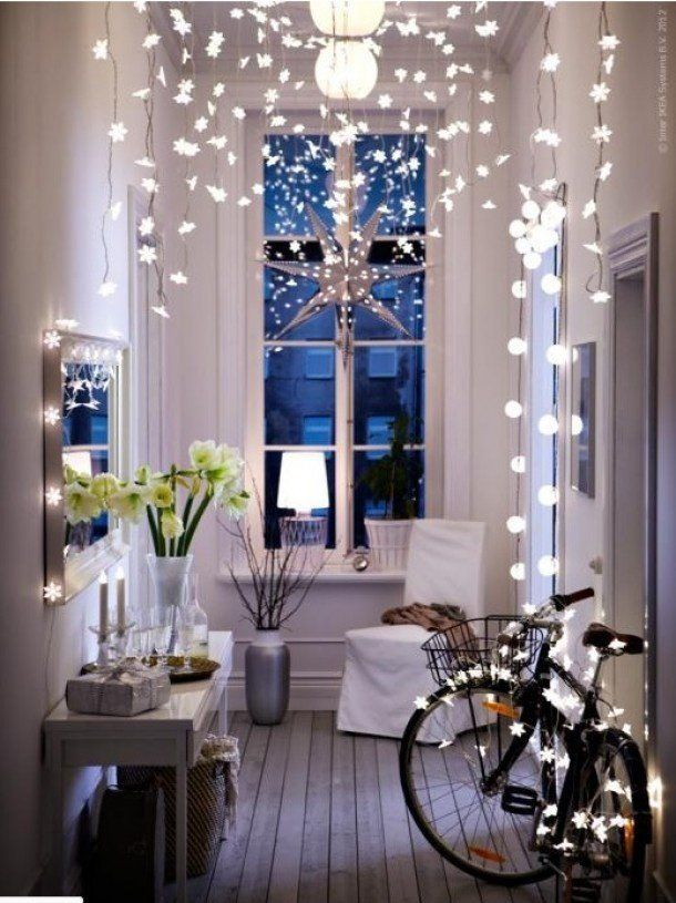 lights in your ceiling and walls for christmas