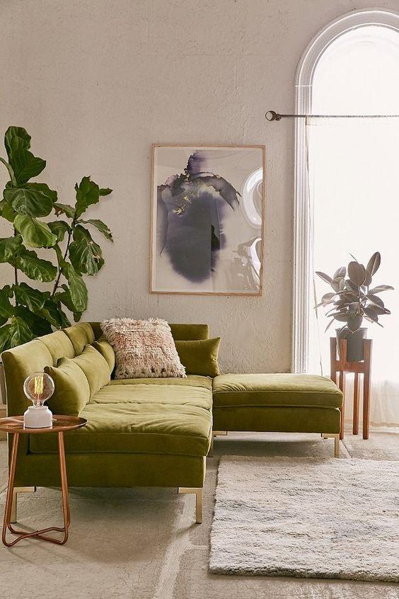 current furniture trends. Unique Trends Green Sofa To Current Furniture Trends