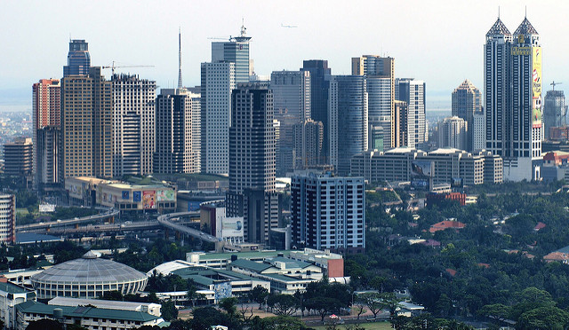 The tall buildings in Pasig City