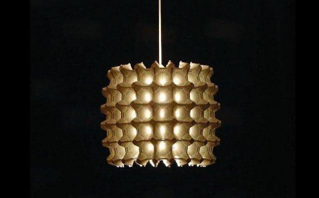 Egg carton lamp source http www architectureartdesigns com 20 creative diy egg carton ideas
